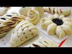 20 самых Красивых Булочек - YouTube Baking And Pastry, Bread Baking, Pie Decoration, Easy Vanilla Cake Recipe, Copykat Recipes, Frozen Puff Pastry, Easy Sugar Cookies, Ukrainian Recipes, Food Platters