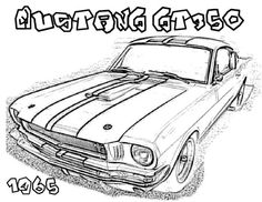 Mustang Car Pictures To Coloring Pages