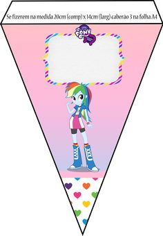 Kit Equestria Girls ( My Little Pony ) Equestria Girls, Festa Do My Little Pony, Crafts For Girls, Girl Birthday, Blog, Happy, Kids, Pony Party, Disney Princess Birthday