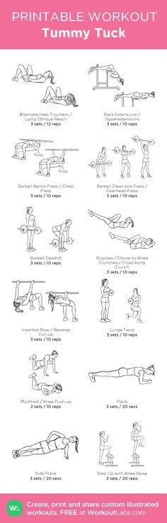 Tummy Tuck: my visual workout created at WorkoutLabs.com • Click through to customize and download as a FREE PDF! #customworkout