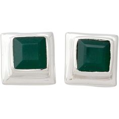 NOVICA Enhanced Green Onyx Stud Earrings in 925 Silver (875 THB) ❤ liked on Polyvore featuring jewelry, earrings, green, stud, stud earrings, silver stud earrings, green jewelry, green onyx stud earrings and green earrings