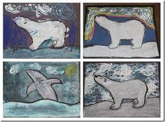 Winter Craft: Arctic Polar Bear Craft - Confessions of a Homeschooler - Chalk Art İdeas in 2019 Arctic Polar Bears, Penguins And Polar Bears, Bear Crafts, Kids Crafts, Polar Animals, Winter Art Projects, 3rd Grade Art, Art Activities, Culture Activities