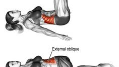 Lying bent-knee oblique twist exercise