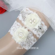 Find More Garters Information about Original Fashion Luxury Crystal Rhinestones White Lace Wedding Garter Sets for Bride Handmade With Ivory Shabby Chifon FLower,High Quality set grill,China lace up flip flops Suppliers, Cheap lace set from Best More Wholesales on Aliexpress.com