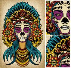 La Chica Calavera Mexicana - Una puerta se me cerró, pero otra se me está abriendo, todos ven eso, yo también lo veo, pero no quiero creerlo, tengo miedo equivocarme de nuevo. - Fotolog
