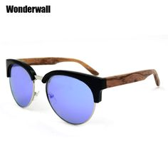 Find More Sunglasses Information about Super vintage metal bridge retro half frame sunglasses mens real wood occhiali da sole donna 3210KS,High Quality c1 white,China c1 used Suppliers, Cheap c1 phone from Wonderwall Store on Aliexpress.com