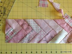 french twist quilt border. Maybe for a full quilt? A lot of waste though