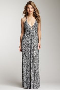 Neutral: Rebecca Taylor Printed Maxi Dress