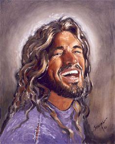 Art4god.com -- beautiful original art of a Jesus most of us won't recognize.  He is strong, beautiful and joyful.