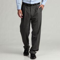 Lanier Geoffrey Beene /White Pindot Suit Separate Pants ( pindot - 30X30), Men's