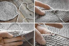 DIY - Knitting for Beginners Beginner Knitting Patterns, Poncho Knitting Patterns, Knitting Stitches, Free Knitting, Free Crochet, Crochet Patterns, Diy Crochet Basket, Mollie Makes, Sock Yarn