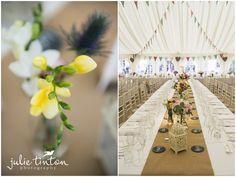 Edinburgh Wedding Photographer Julie Tinton - Marquee Wedding Flowers, DIY Wedding. Wedding Flower Inspiration