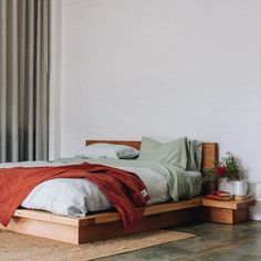 Al and Imo Custom Timber Furniture Timber Bed Frames, Timber Beds, Timber Furniture, Custom Furniture, Low Height Bed, Diy Storage Headboard, Minimalist Bed Frame, Simple Bed Designs, Bookshelf Bed