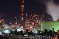My Photo: Keihin industrial area. #technoscape #factory #industrial