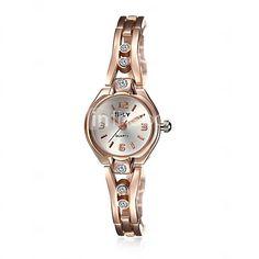 d00d590817b6 Mujer Reloj de Moda Reloj Pulsera Reloj Casual Resistente al Agua Cuarzo Aleación  Banda Encanto Casual