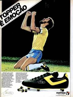 Socrates of Brazil and Topper Football Boots in 1982.