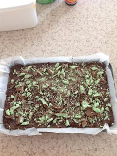 Aero mint slice 2x 250g choc ripple biscuits 395g condensed milk 3x blocks aero mint chocolate 125g butter Crush biscuits and 1/2 of the aero chocolate blocks in blender, put into a bowl. Melt butter and condensed milk in saucepan. Mix all ingredients together. Put into slice tin lined with baking paper. Add more aero chocolate on top (if needed). Refrigerate until firm. NOTE: can also use cherry ripe or crunchie. Enjoy!
