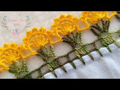 bico de crochê no pano de prato rápido de fazer #78 - YouTube Filet Crochet, Crochet Shawl, Knit Crochet, Crochet Edging Patterns, Crochet Borders, Beginner Crochet Projects, Crochet For Beginners, Chrochet, Crochet Flowers