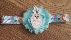 Frozen Olaf Shabby Headband by FlutteringBoutique on Etsy
