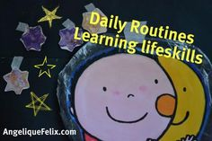 Daily routine play activity - preschool /  AngeliqueFelix.com #lifeskills