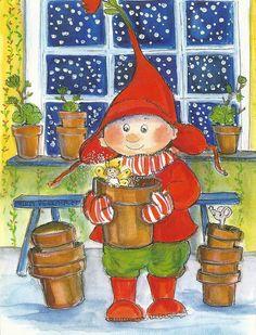 Postcrossing postcard from Finland Art Deco Illustration, Winter Illustration, Christmas Illustration, Illustrations, Vintage Christmas Cards, Xmas Cards, Vintage Cards, Old Fashioned Christmas, Christmas Gnome