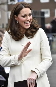 The Duchess, 36, is visitingPegasus Primary School in Oxford where pupils, parents and teachers are part of a charity programme to support emotional health and wellbeing.