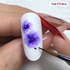 unicorn nails with marble \ marble unicorn nails ` unicorn nails with marble ` unicorn and marble nails Nail Design Glitter, Nail Design Spring, Purple Nail Designs, Spring Nail Colors, Acrylic Nail Designs, Spring Nails, Nail Art Designs Videos, Nail Art Videos, Nail Design Video
