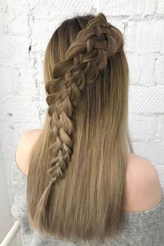 Half Updo Hairstyle With Snake Braid ❤  #lovehairstyles #hair #hairstyles #haircuts