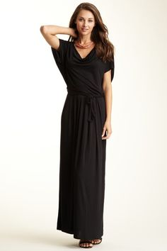 Draped Front Ruched Back Dress by Loveappella on @HauteLook