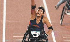 Cheri Becerra Madsen, who is of Omaha, is a two-time Olympian, seven-time Paralympian, and World Record holder in three-wheeled wheelchair racing.