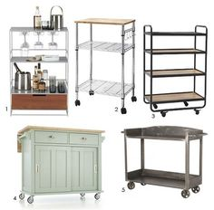 10 Smart Temporary Solutions for More Kitchen Storage & Counter Space