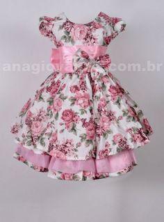 Vestido floral infantil festa                                                                                                                                                      Mais