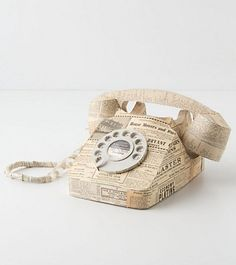 ANTHROPARODIE:  Rotorigami Phonea rare vintage newspaperprinted o...