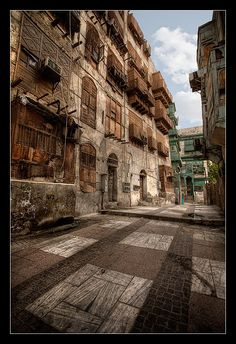 Downtown Jeddah, KSA - the old part of the city