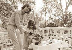 George Harrison with the Maharishi Mahesh Yogi.