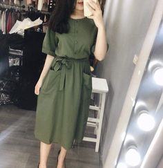 Timeson Womens Blouses Fashion Chiffon - Now Outfits Office Wear Dresses, Modest Dresses Casual, Modest Outfits, Stylish Dresses, Skirt Outfits, Simple Dresses, Modest Fashion, Women's Fashion Dresses, Hijab Fashion