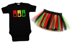 Rasta Guitar One Piece & Tutu Set ...Because Sean and Uncle Jonny would love this!