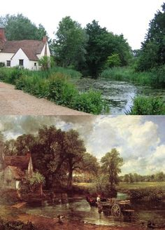 Flatford Mill, Suffolk, England lies in the heart of the beautiful Dedham Vale. This charming hamlet was inspiration for some of John Constable's most famous paintings.