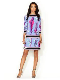 Printed Drop Waist Jersey Dress by Ali Ro at Gilt