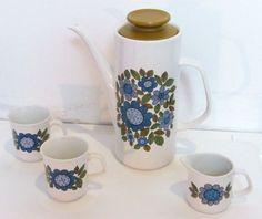 J & G Meakin Coffee pot cups and creamer jug
