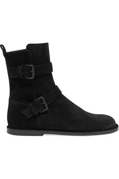 dcdf91ba8c8f Ann Demeulemeester - Buckle-detailed suede ankle boots