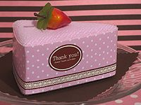 Sweet Treats Collection Strawberry Cheesecake Towel Favor
