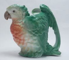 "RARE Vintage Royal Bayreuth Large Parrot Milk Pitcher 6 ⅛""T Parakeet Porcelain | eBay"
