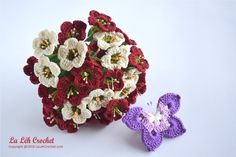 Crochet Wedding Hand Bouquet Digital Download Pattern, party and home decor, gift, applique. by LaLehCrochet on Etsy