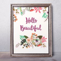 Children art Hello beautiful print Nursery Decor by AlniPrints
