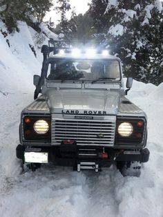 My Land Rover Defender 110 and Snow Today's Trip @Dr.Junaid Kazi