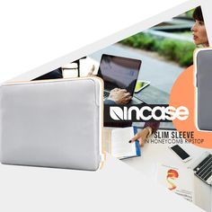 New in Stock Incase Slim Sleeve in Honeycomb Ripstop for Macbook 13 inch Available in Sliver and Space Grey Macbook 13 Inch