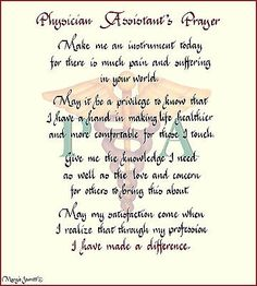 ST076 - PHYSICIAN ASSISTANT, PHYSICIAN ASSISTANT'S PRAYER