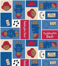 Paddington Bear Block Fleece Fabric.  I love Paddington
