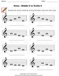 Treble Clef Notes Worksheet Fresh Fun and Learn Music Music Worksheets – Treble Clef Learning Music Notes, Music Math, Reading Music, Music Classroom, Music Education, Music Music, Music Theory Worksheets, Music Lessons For Kids, Music Symbols